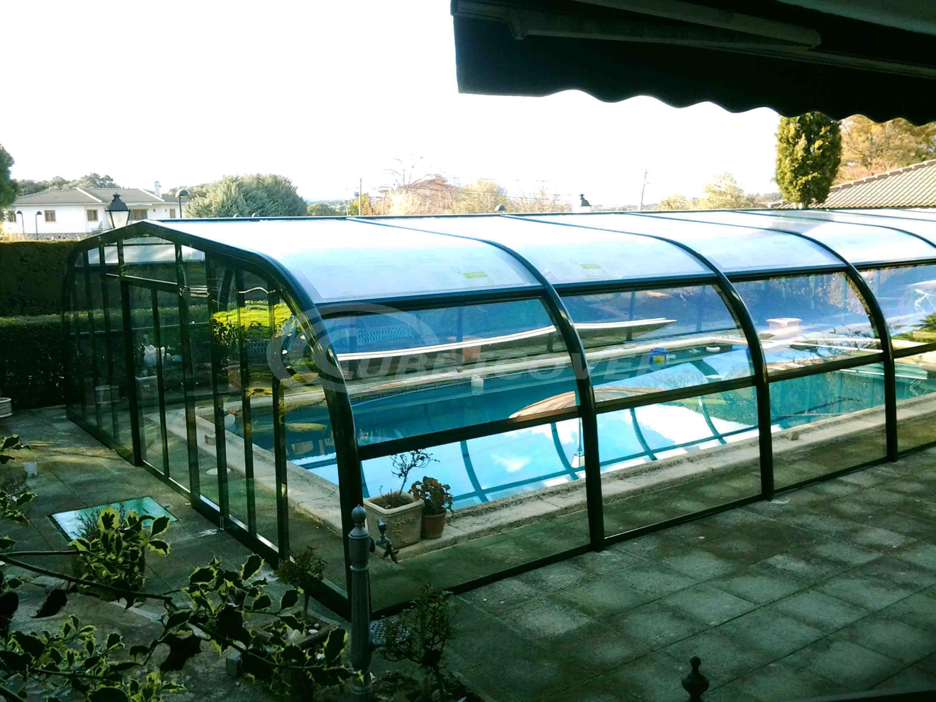 Cubiertas para piscinas fijas cubricover for Piscina cubierta galapagar