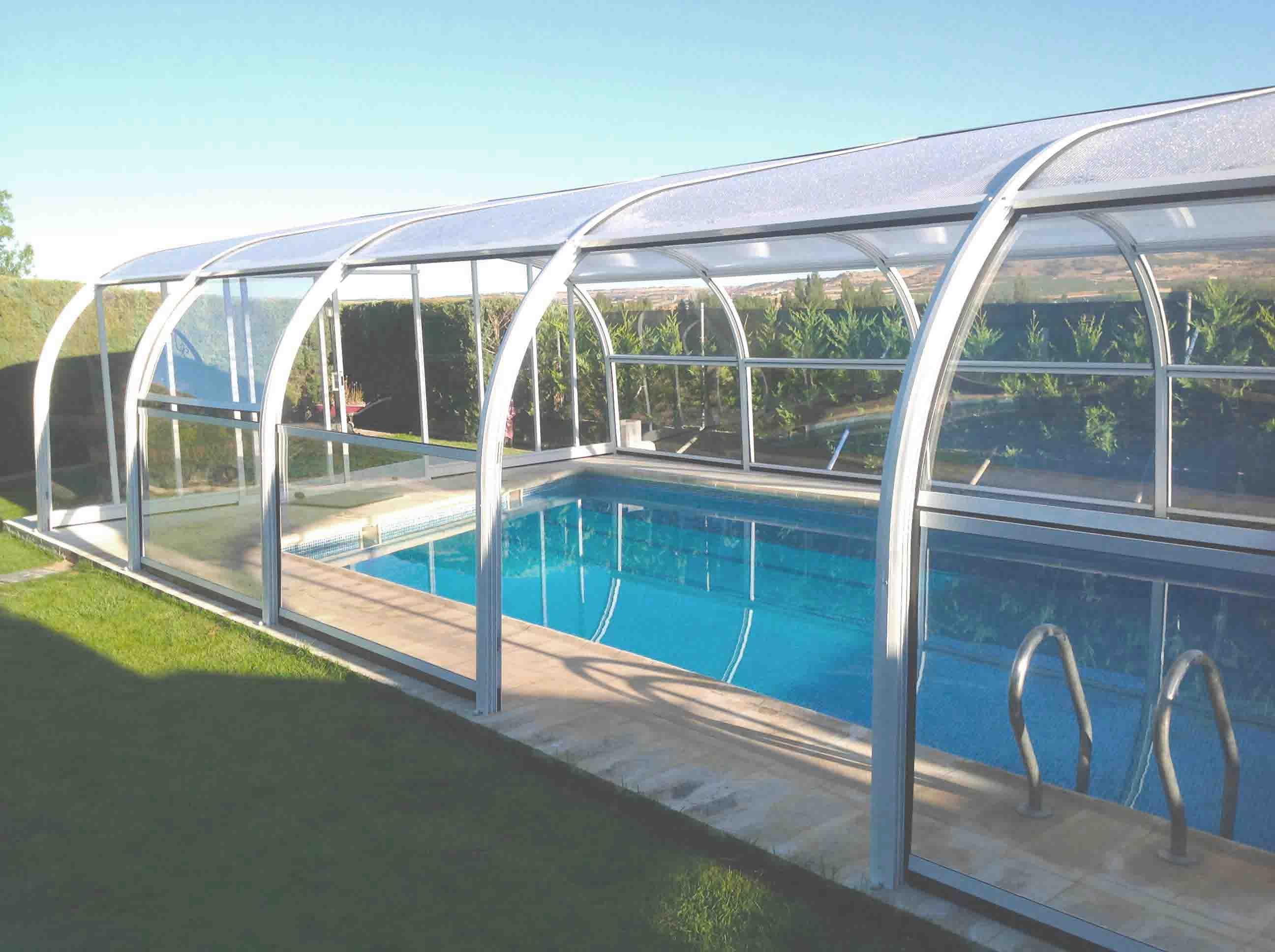 Cubiertas altas para piscinas cubricover Cubierta piscina precio