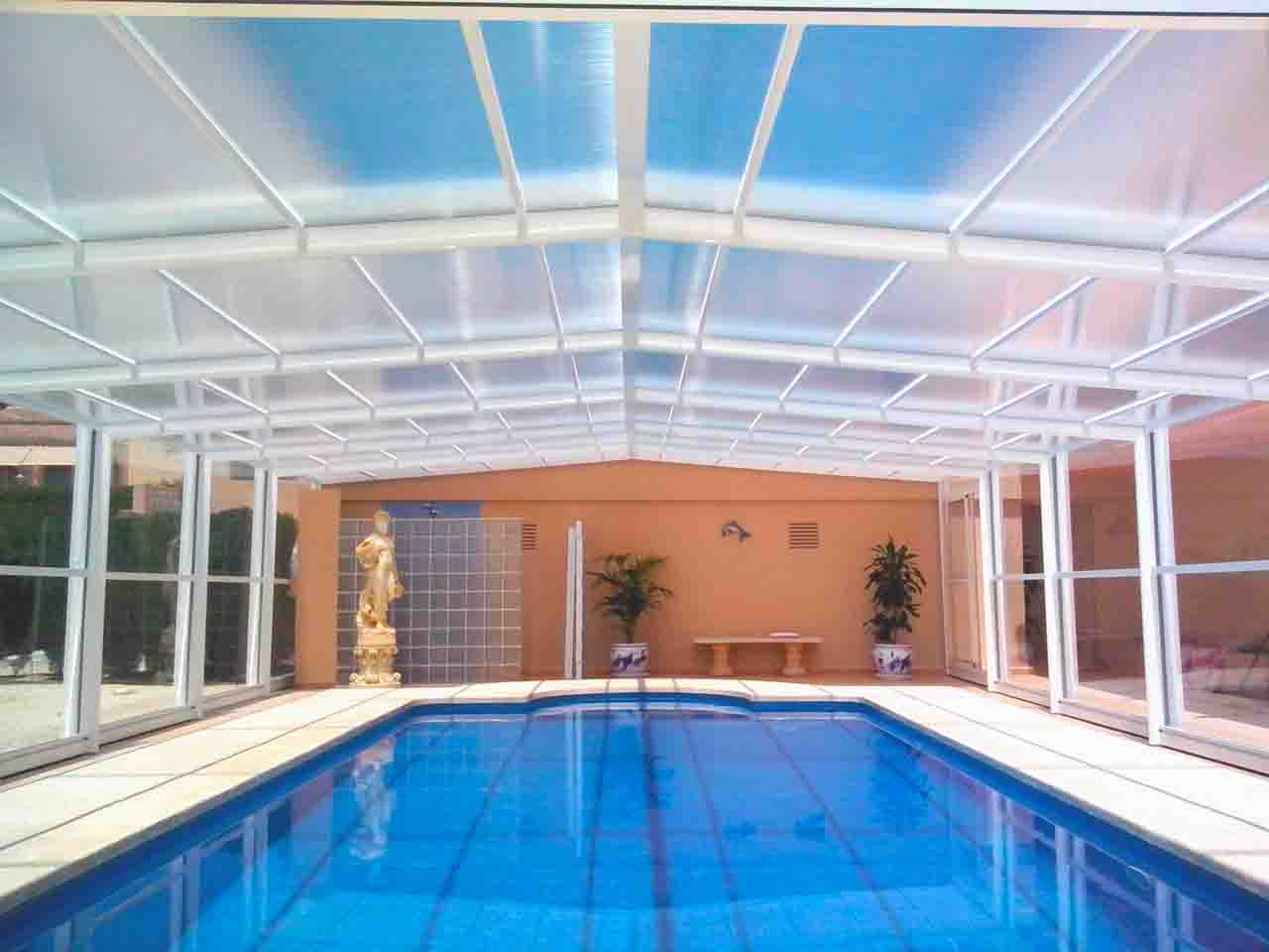 Cubiertas altas para piscinas cubricover for Cubiertas para piscinas